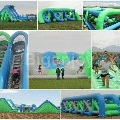 Inflatable 5k adult obstacle course races