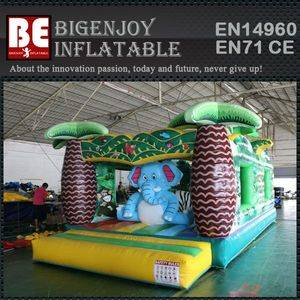Animals playground jungle bounce house