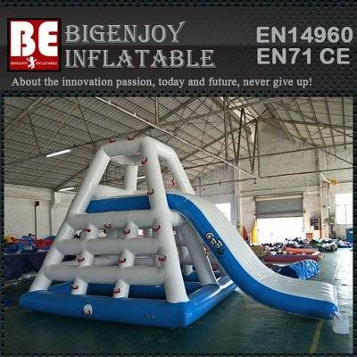 Inflatable water floating pool air mattress slides
