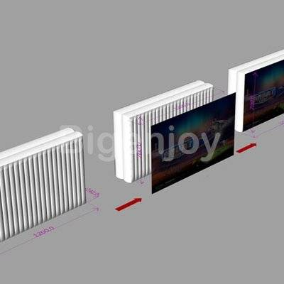 3D Trade Show advertising Equipment inflatable wall