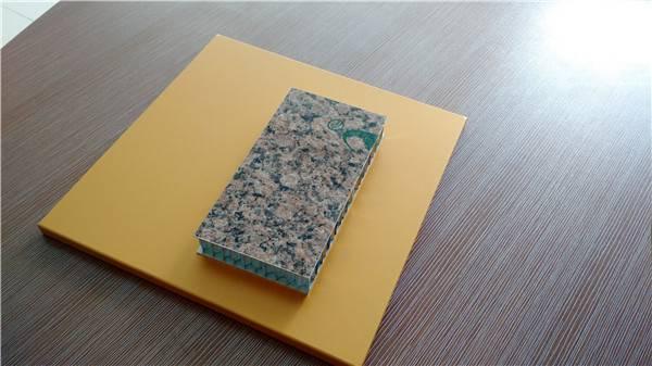 PE coated aluminum honeycomb sandwich panels for wall cladding