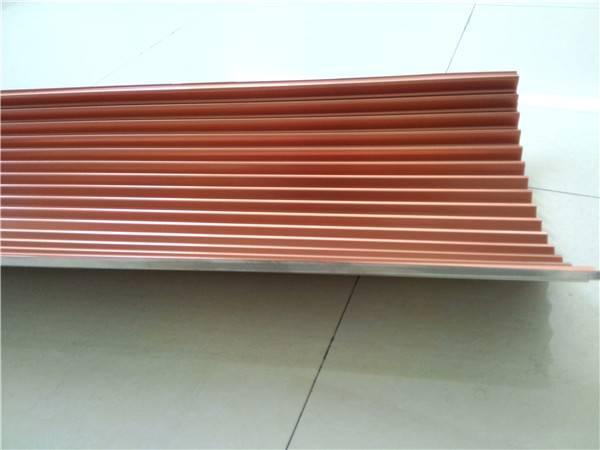 Golden Color Corrugated Aluminium Sheet, Metal Corrugated Aluminium Core