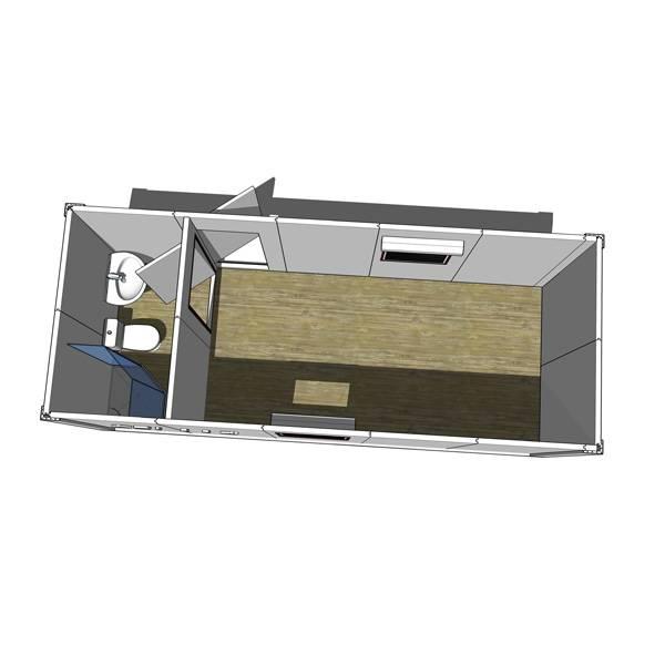 Módulos estándar de dormitorio con cuarto de baño epfp002