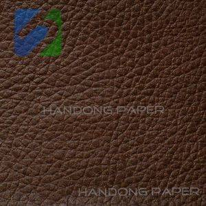 Custom printed 150g Paper  With Pu Leather Handle And Bottom Reinforce paper