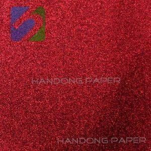 Senior diary wrapping PVC coated paper/Fine deep red linen-like PVC coated art paper