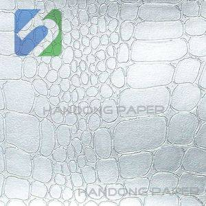New crocodile leatherette paper /manufacturer of leatherette paper / Iridescence effect paper