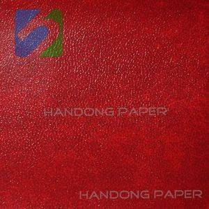 Color specialty wrapping paper PVC  leatherette paper from China