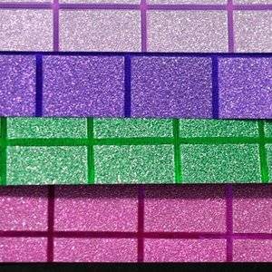 Custom designed glitter paper wholesale Mixed Colorful Glitter Wrapping Paper