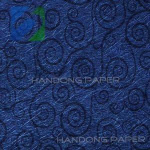 Special paper fancy PVC embossed pearl metallic wrapping paper/Handong paper company