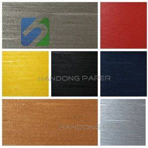 Fancy Paper colourful PVC embossed leather grain paper/fancy wrapping paper