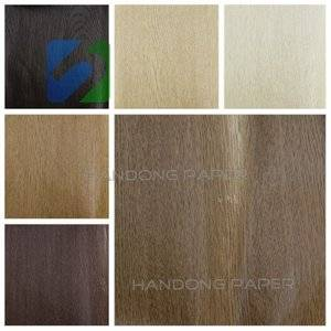 Hot Sale Woodgrain Melamine Paper For box /Printed woodgrain board paper