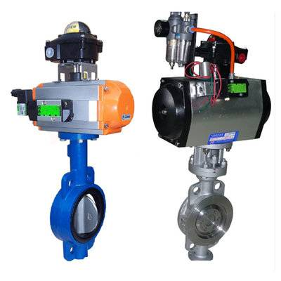 Butterfly valve with Pneumatic actuators
