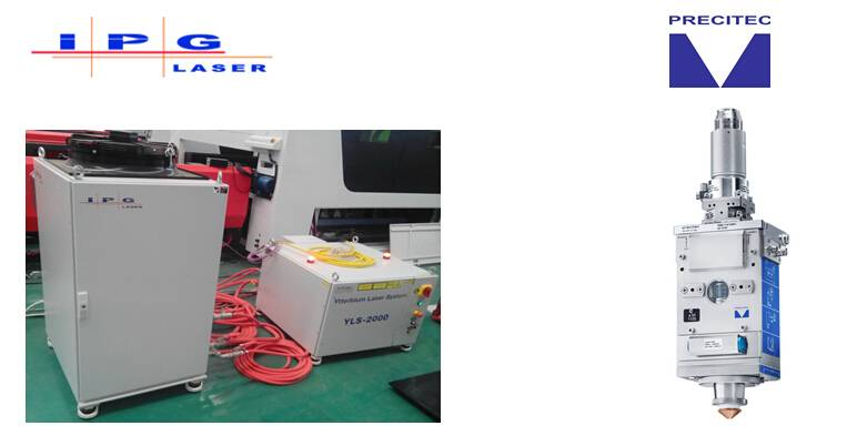 IPG fiber laser system and fiber laser cutting head