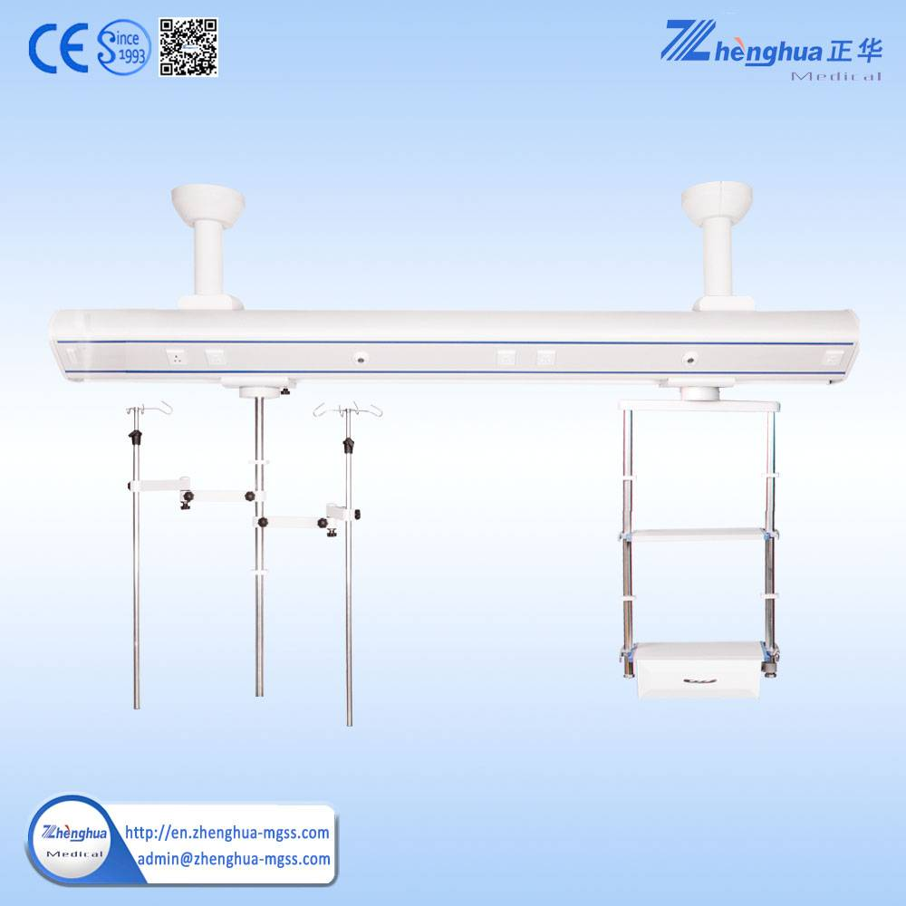 Hospital Microsurgery Equipments Bridge Type ICU Ceiling Pendant