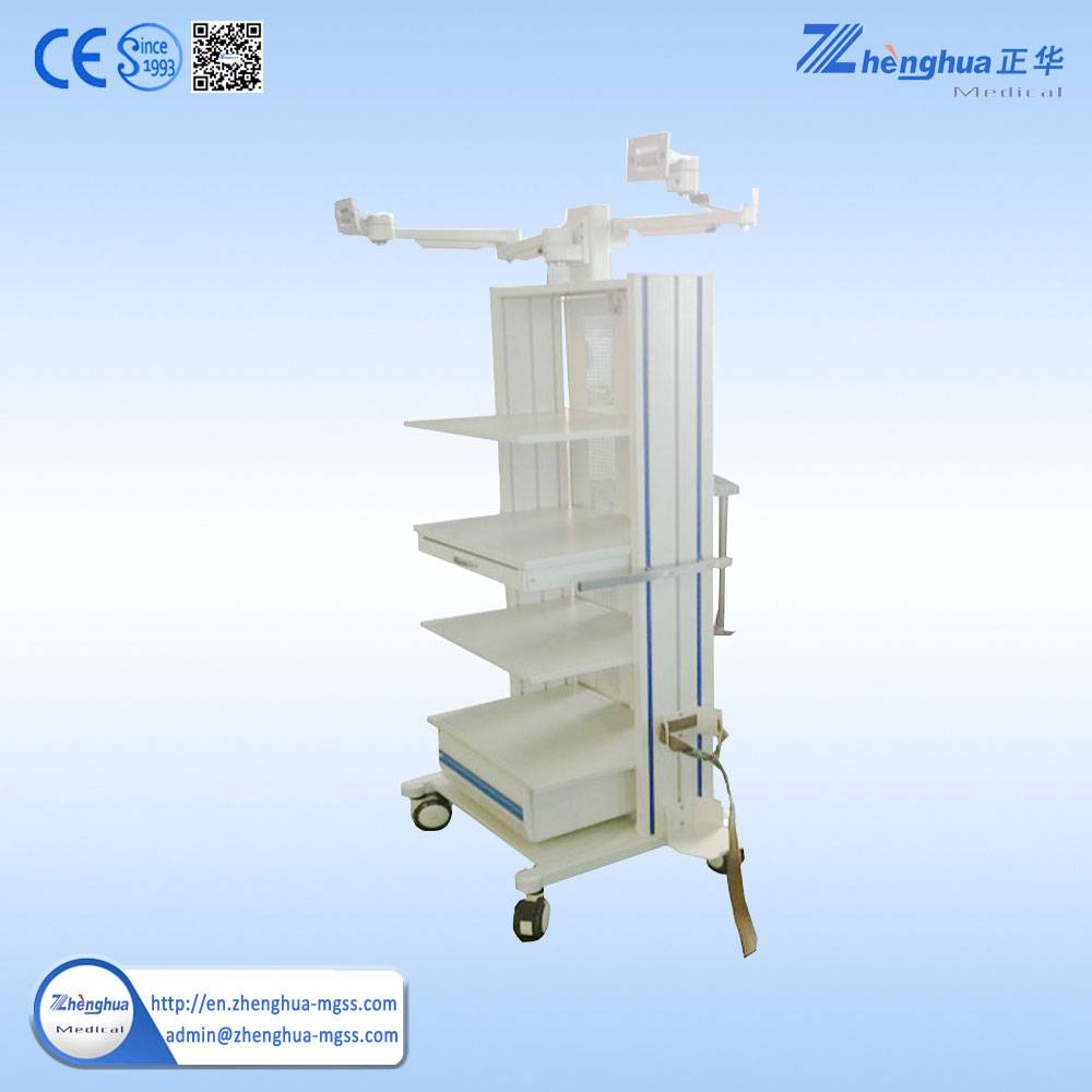 Medical endoscopy stainless trolley