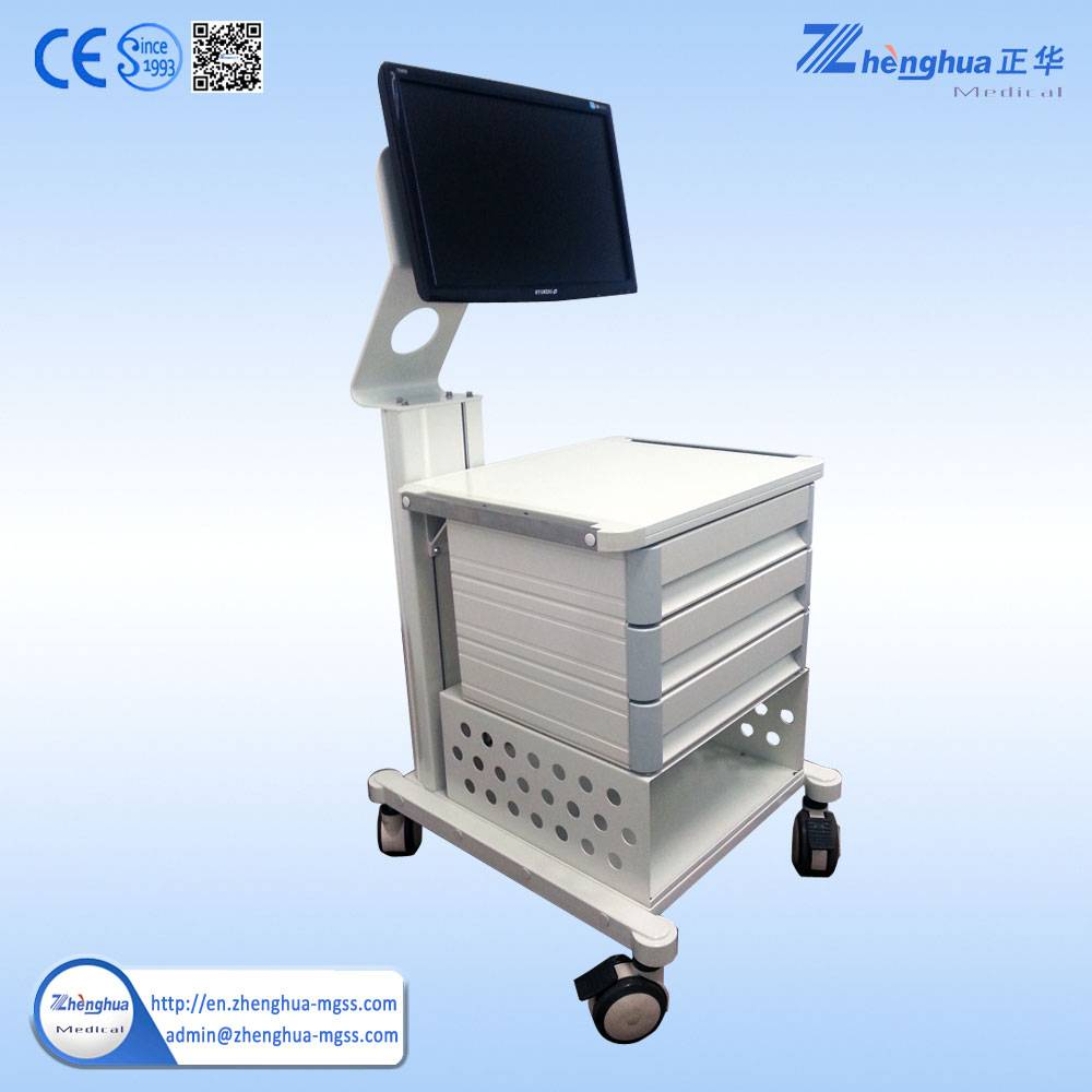 Medical Electronic Endoscope Trolley with Computer