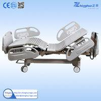 Five function folding electric hospital bed for icu used