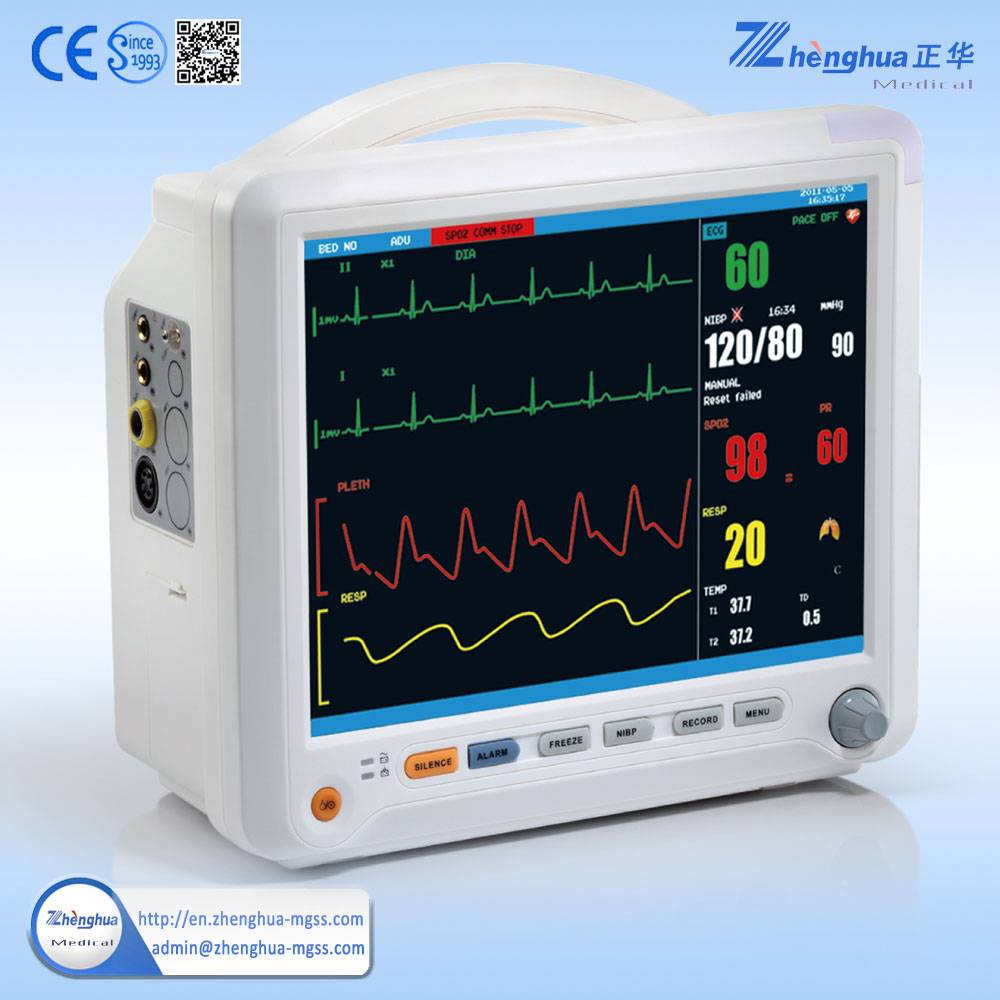 Emergency room TFT display patient monitor for medical pendant