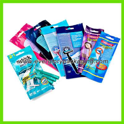 Colorful Plastic Packing Bag for Shaver Pack