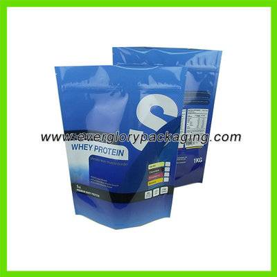 Stand up aluminum foil whey protein bag