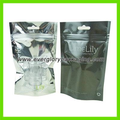 Hot sale Stand up clear cosmetic bags wholesale
