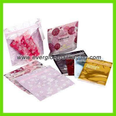 Colorful Stand up cosmetic bag with ziplock