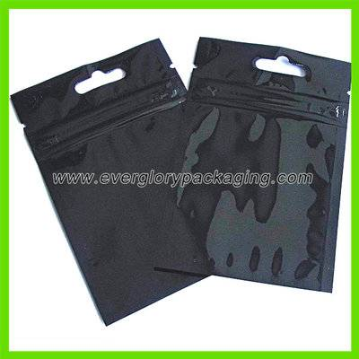Aluminum foil black zip lock bag