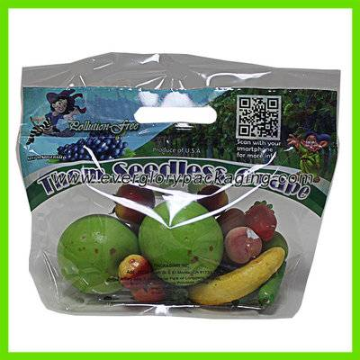 Custom printed micro-perforated plastic bag for vegetable