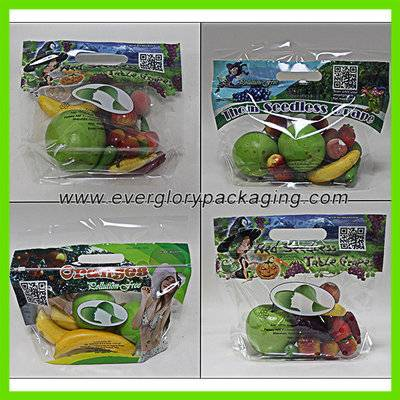 Vivid printed plastic produce bag