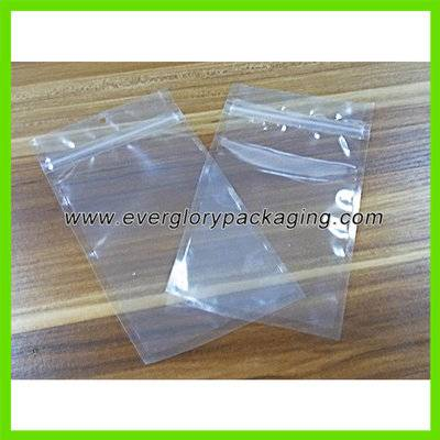 Hot Sale Clear Plastic Zipper Pouch For Accessories Packaging