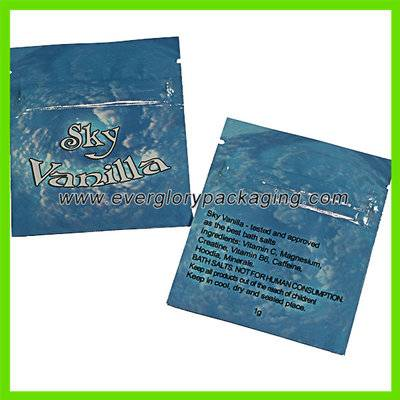 ISO9001 Custom Printed Aluminium Foil Zipper Bag For Bath Salt Pack