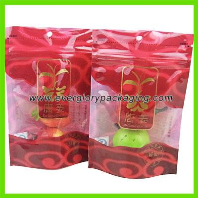 Custom Printed FDA Standing Up Plastic Food Bag For Fresh Ginger Pack