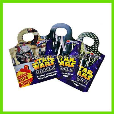 SGS Custom Printed Plastic Pouch For Star Wars Snack Clips Pack