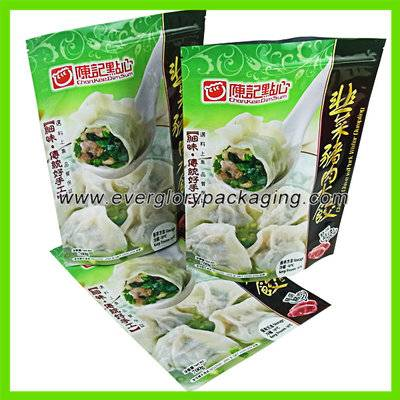 Stand up frozen food packaging bag for dumplings