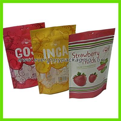 Vivid printed Stand up plastic food bag with ziplock