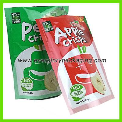 Stand up printable plastic food bags