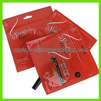 tobacco bag,Hot sale red tobacco bag,Hot sale red tobacco bag with ziplock