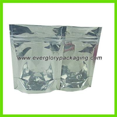 clear stand up foil bag with ziplock