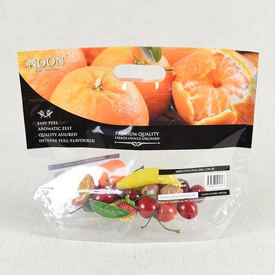 Produce Pouch Plastic Vented Printed Zippered Pouch Bag