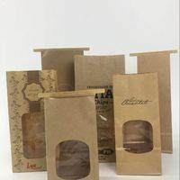Kraft Paper bag with window,paper tin tie bags,paper bag,tin tie bag