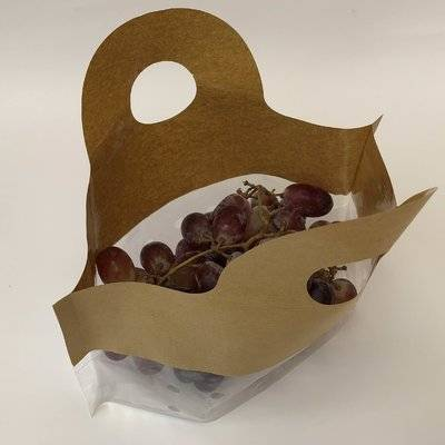customized wet strength paper grape bag with plastic
